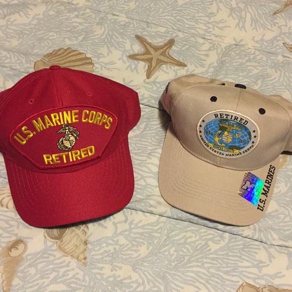 44851075a1d284 usa Accessories | Us Marine Corpse Retired Hats Adjustable Snapback ...